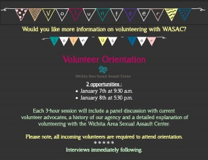 January Volunteer Orientation